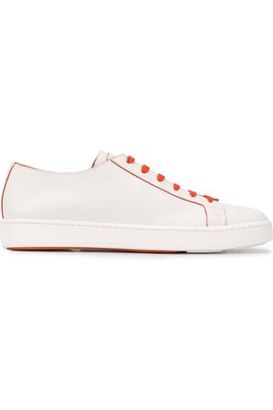 santoni Contrasting lace sneakers