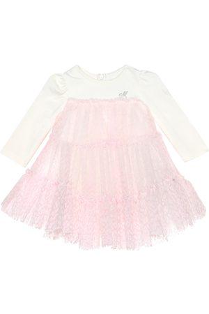 MONNALISA Baby Kleid aus Samt und Tüll