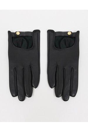 ASOS Schlichte Touchscreen-Lederhandschuhe in