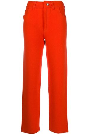 Barrie High-rise cropped boyfriend trousers
