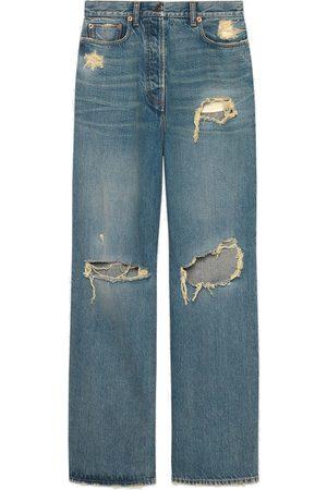 Gucci Boyfriend-Jeans in Distressed-Optik