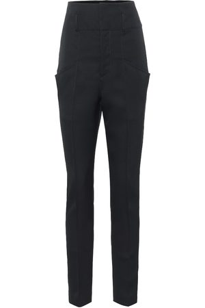 Isabel Marant High-Rise-Hose Padme aus Wolle