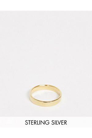 ASOS Herren Ringe - Ring aus vergoldetem Sterlingsilber, 14 Karat