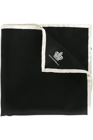 Dolce & Gabbana Seideneinstecktuch mit Krone-Print