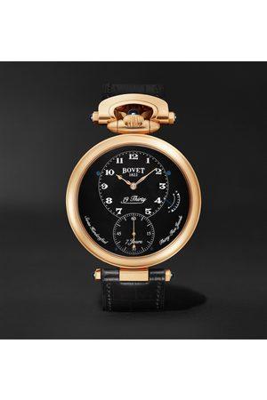 Bovet Herren Uhren - 19Thirty Fleurier Hand-Wound 42mm 18-Karat Rose Gold and Leather Watch, Ref. No. NTR0029