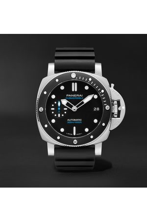 PANERAI Herren Uhren - Submersible Automatic 42mm Stainless Steel and Rubber Watch