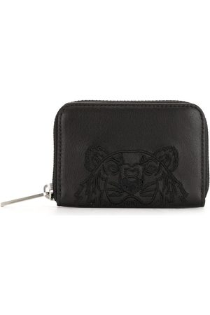 Kenzo Logo-embroidered leather wallet
