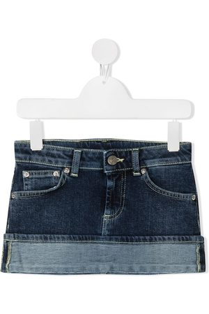 Dondup Turn-up hem denim mini skirt