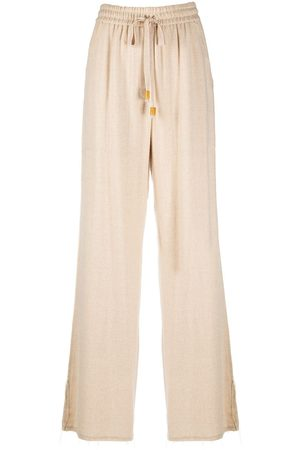 Nanushka Kaissan pleat-detail trousers - Nude