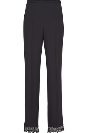 Prada Embellished satin sablé trousers