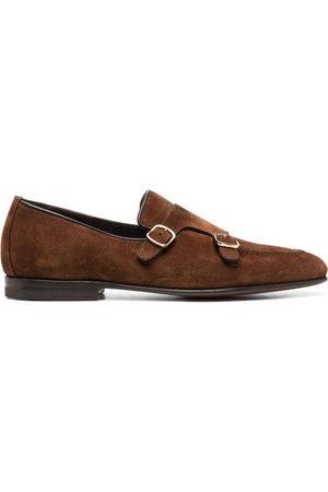 santoni Monk-Schuhe aus Wildleder