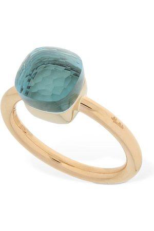 Pomellato Damen Ringe - Nudo 18kt Thin Ring W/ Blue Topaz