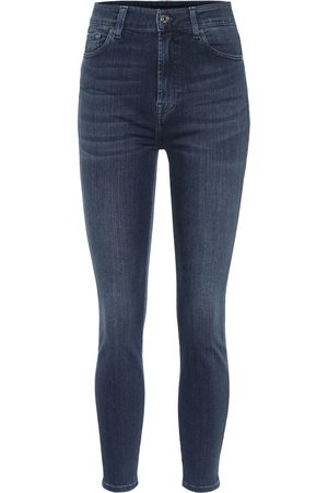 7 for all Mankind High-Rise Skinny Jeans Aubrey
