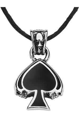 etNox hard and heavy Herren Halsketten - Black Spade Halskette silberfarben