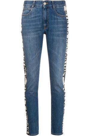 Stella McCartney Cropped-Jeans mit Logo-Streifen