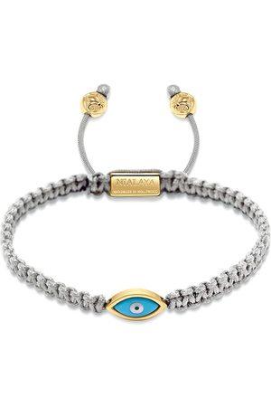 Nialaya Herren Armbänder - Gewebtes Armband mit vergoldeten Details