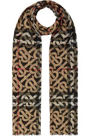 Burberry Schals - Karierter Schal mit Monogramm - Nude