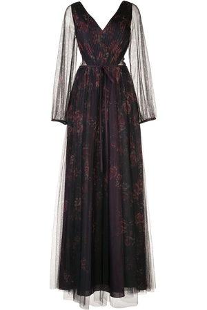 Marchesa Notte Damen Kleider - Robe mit Sheer-Effekt