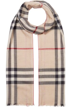 Burberry Oversized-Schal mit Vintage-Check - Nude
