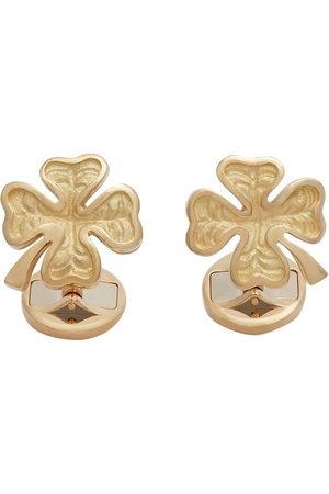 Dolce & Gabbana 18kt 'Good Luck' Gelbgold-Manschettenknöpfe mit Rubin