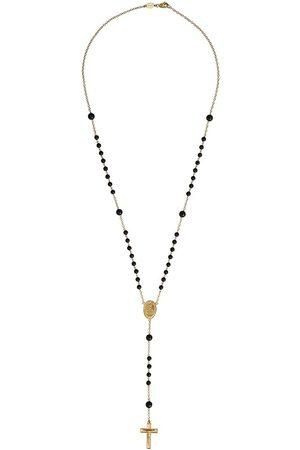 Dolce & Gabbana 18kt Gelbgold-Rosenkranzkette mit Saphir