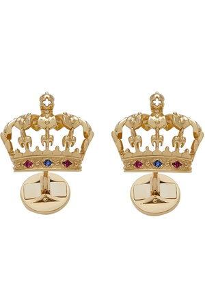 Dolce & Gabbana 18kt Gelbgold-Manschettenknöpfe mit Krone