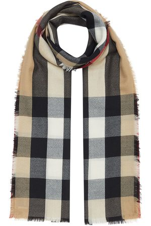 Burberry Vintage check cashmere scarf - Nude