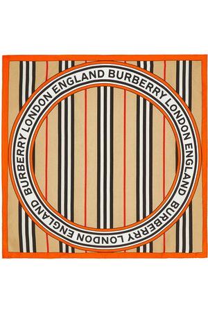 Burberry Icon stripe small square scarf - Nude