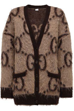 Gucci Oversized Cardigan Aus Gg-mohairmischjacquard