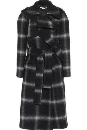 Stella McCartney Karierter Mantel aus Wolle