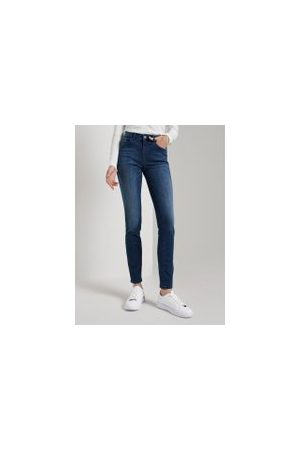 TOM TAILOR Damen Slim - Alexa Slim Jeans, Damen, mid stone wash denim, Größe: 32/32
