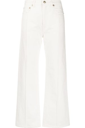PORTS 1961 Damen Cropped - Weite Taillenjeans