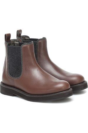 Brunello Cucinelli Chelsea Boots aus Leder