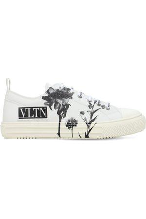 VALENTINO GARAVANI Sneakers Mit Blumen- Und Logodruck