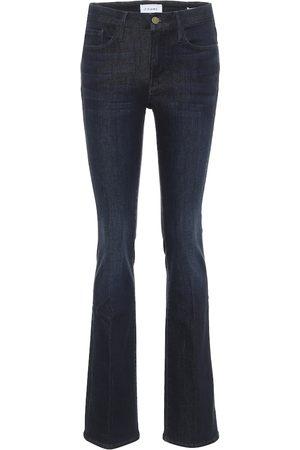 Frame High-Rise Flared Jeans Le Mini Boot