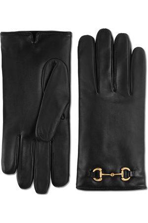 Gucci Handschuhe aus Leder mit Horsebit