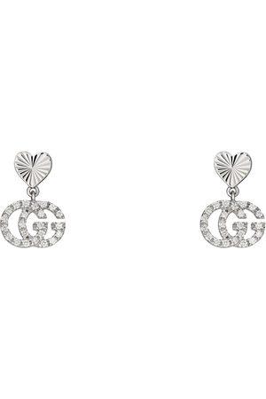 Gucci Damen Uhren - GG Running Ohrringe 18 Karat mit Diamanten