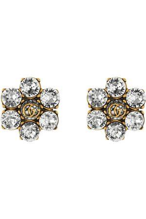 Gucci Uhren - Ohrringe mit GG und Kristallen