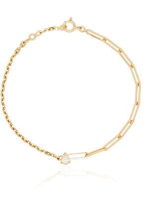 Yvonne Léon Damen Armbänder - 18kt Gelbgoldarmband mit einem Diamanten