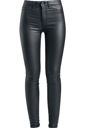Noisy May Callie High Waist Skinny Coated Pants Girl-Jeans