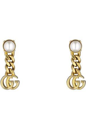 Gucci Damen Uhren - Ohrringe mit Doppel G und Perlen
