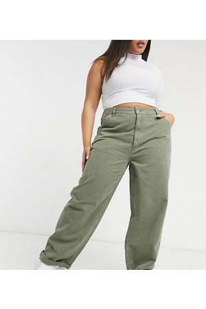 ASOS Legere Chinohose in Khaki