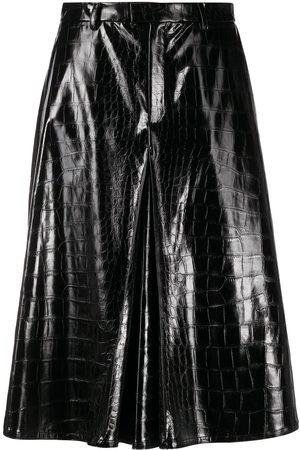 Maison Margiela Embossed faux-leather shorts