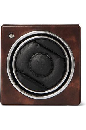 Rapport London Herren Uhren - George Cleverley Leather, Aluminium and Cedar Wood Watch Winder