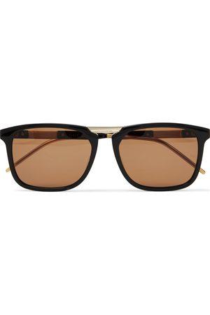 Gucci Herren Sonnenbrillen - Square-Frame Acetate and Gold-Tone Sunglasses