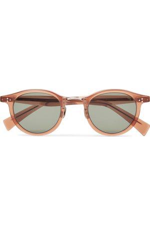Eyevan 7285 Herren Sonnenbrillen - Round-Frame Acetate and Silver-Tone Sunglasses