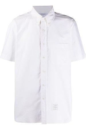 Thom Browne Short-sleeved Oxford shirt - 100 WHITE