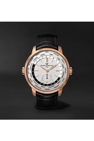 Girard Perregaux Herren Uhren - 1966 WW.TC Automatic 40mm 18-Karat Rose Gold and Alligator Watch, Ref. No. 49557-52-131-BB6C