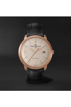 Girard Perregaux Herren Uhren - 1966 Automatic 40mm 18-Karat Rose Gold and Alligator Watch, Ref. No. 49555-52-132-BB60