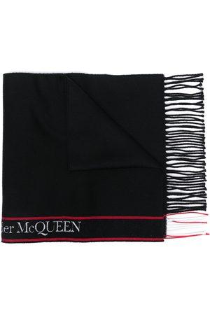Alexander McQueen Schal mit Logo-Streifen